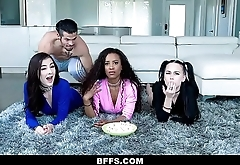 BFFS - Hot Teens Have a Movie Night Orgy