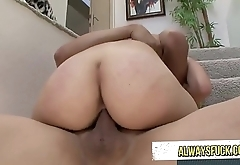 This blonde woman is incredible and she likes to fuck on stairs