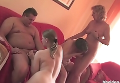 German Unprofessional Sex Party with Mature Swingers