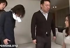 Japanese wife fucking many guys to make reparation husband loans