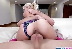 Petite Cutie Ivy Stone Fucks in Pink Kneehighs